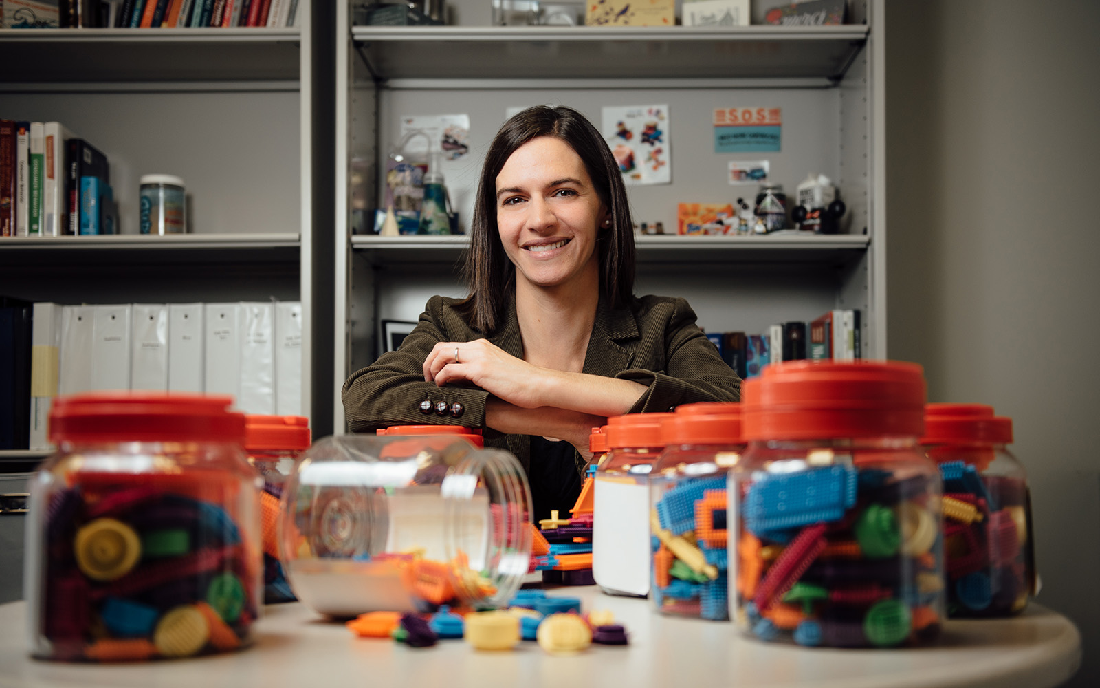In their studies, UConn marketing professor Kelly Herd (pictured, above) and Ravi Mehta of the University of Illinois at Urbana-Champaign, ask participants to design a child's toy, select ingredients for a new kids' cereal, and redesign a grocery cart for the elderly. Each time, the group that produced the most original products was the one instructed to imagine the target consumers' feelings before beginning the task. (Nathan Oldham/UConn School of Business)